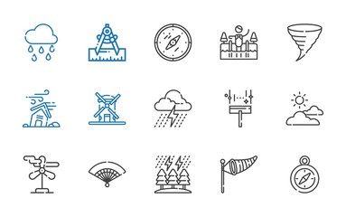 wind icons set