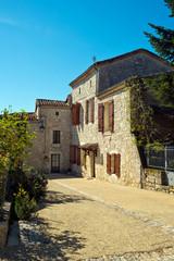 Picturesque tourist attraction of the village of Pujols, Lot-et-