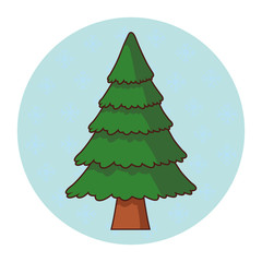 Tree pine cartoon