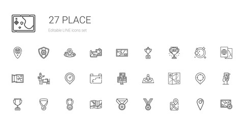 place icons set