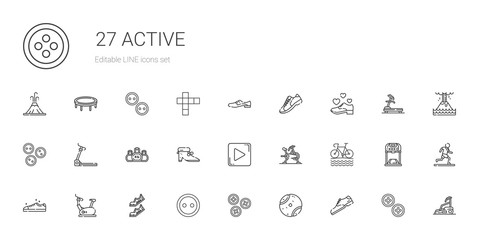 active icons set