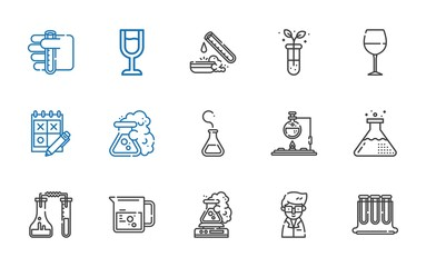 beaker icons set