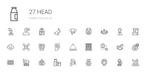 head icons set