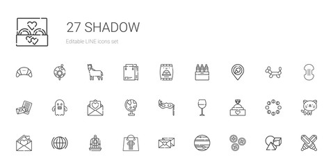 shadow icons set