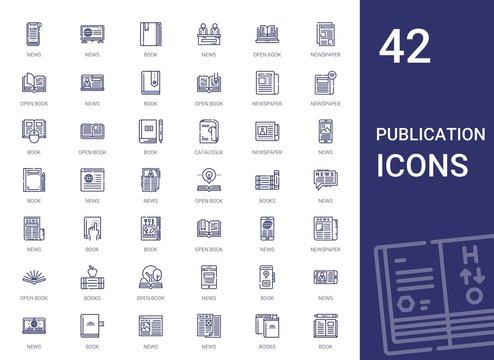 publication icons set