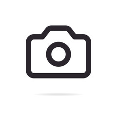 Camera icon line style isolated on white background for website, photography logo, mobile app design, ui. pohotocamera symbol. Vector EPS10