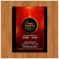 Beautiful Merry Christmas party flyer