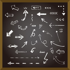 黒板とかすれ矢印セット / vector eps 10