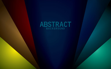 Dark blue background vector with colorful overlap layer