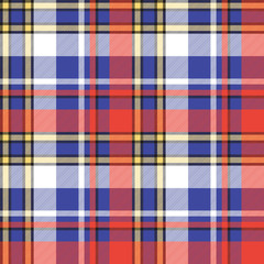 Color plaid seamless pattern