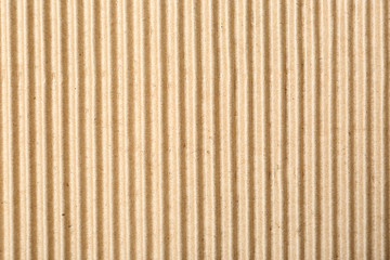 Corrugated cardboard surface as background, top view. Recyclable material