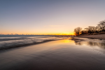 Winter sunrise at the beach