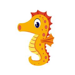 Seahorse cartoon or Seahorse Clipart cartoon  isolated on white background illustration