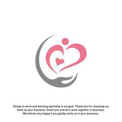 Love Hearth Care logo concept, Love People logo template, Charity logo template vector - Vector