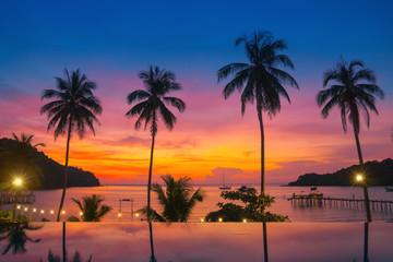 Sunset by the sea.Beautiful sunset.