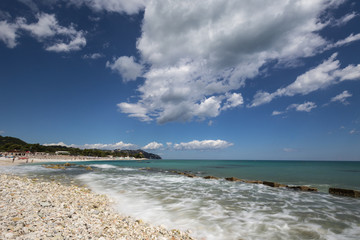 The Adriatic sea from Marche region in Italy