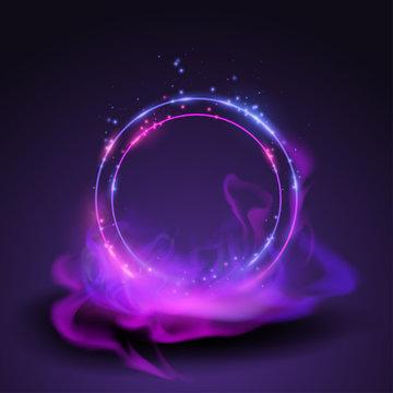 Magic rings in smoke