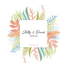 Vector floral greeting card template