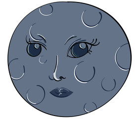 Face in the Moon