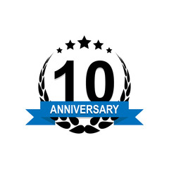 Anniversary, 10 years multicolored icon. Can be used for web, logo, mobile app, UI, UX