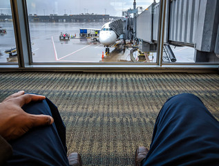 Waiting In The Airport For Travel