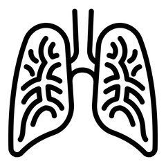 Human lungs icon. Outline human lungs vector icon for web design isolated on white background