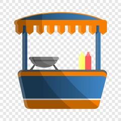 Hot dog kiosk icon. Cartoon of hot dog kiosk vector icon for web design for web design