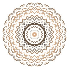 Vector round abstract Mandala style decorative element. Hand-Drawn Vector illustration. Can be used for textile, greeting card, coloring book, phone case print.