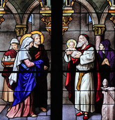Presentation of Jesus Stain glass window
