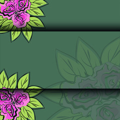 pattern of rose vector