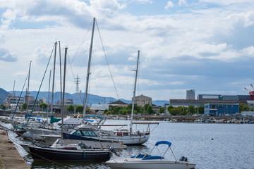 Yachts harbor in Takamatsu city ,Shikoku,Japan