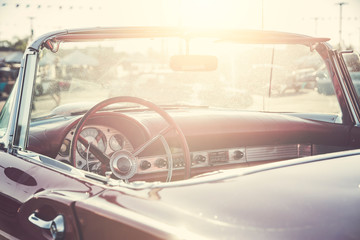 Fotomurales - Classic car interior close-up