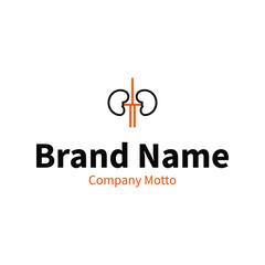 kidney health care brand logo design concept, vector illustration