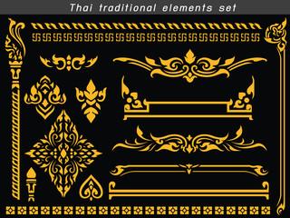 Thai traditional elements set