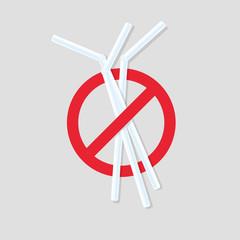 No plastic straws icon.