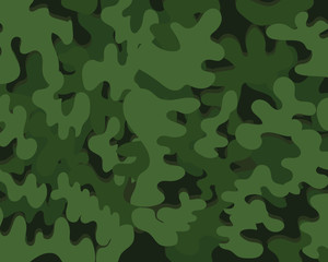 Abstract military or hunting camouflage background. green color. Vector illustration.