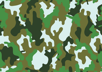 texture military camouflage repeats seamless army green hunting. Camouflage pattern background. Classic clothing style masking camo repeat print. four colors forest texture. Vector illustration.