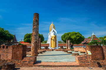 Buddha statue at Wat Phra Si Rattana Mahathat also colloquially referred to as Wat Yai is a Buddhist temple (wat) in Phitsanulok Province, Thailand.