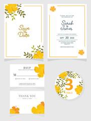 Wedding invitation card. Vector illustration