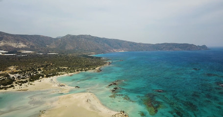 Beautiful view of the azure coast of Greece,