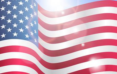 Poster design for Patriot memory day in America. Vector illustration.