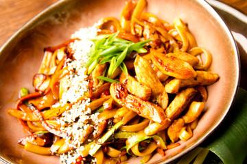 chicken wok noodles