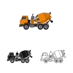 Isolated object of build and construction sign. Collection of build and machinery vector icon for stock.