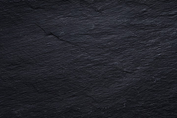Dark gray black slate background or texture of natural stone.