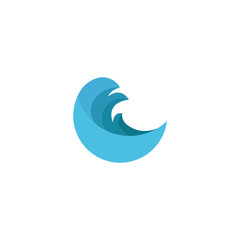 Abstract water logo for company