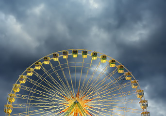 Nice Ferris wheel during thunderstorm