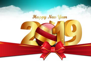 Happy New Year 2019 celebration concept