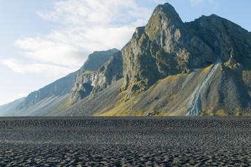 Hvalnes lava beach landscape, east Iceland landmark
