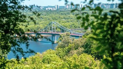 bridge over the river Dnipro