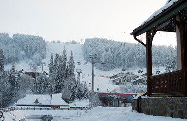 mountain lift resort Bukovel